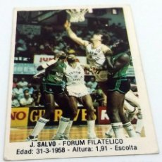 Coleccionismo deportivo: CROMO BALONCESTO CONVERSE J.SALVO-FORUM FILATELICO Nº 52. Lote 246918960