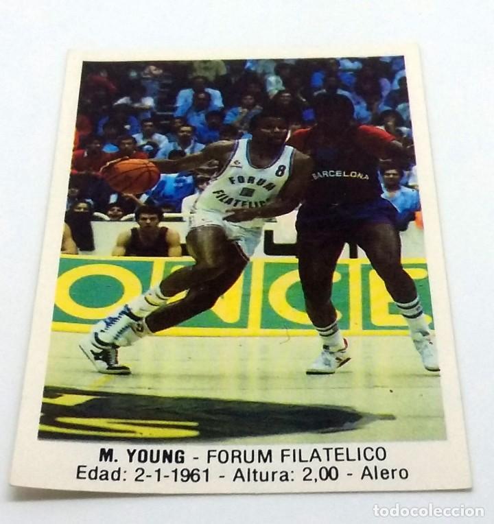 CROMO BALONCESTO CONVERSE M.YOUNG-FORUM FILATELICO Nº 54 (Coleccionismo Deportivo - Cromos otros Deportes)