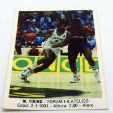 Coleccionismo deportivo: CROMO BALONCESTO CONVERSE M.YOUNG-FORUM FILATELICO Nº 54. Lote 246920235
