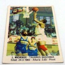 Coleccionismo deportivo: CROMO BALONCESTO CONVERSE L.MICHEAUX-TAUGRES BASCONIA Nº 111. Lote 246920815