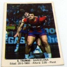 Coleccionismo deportivo: CROMO BALONCESTO CONVERSE S.TRUMBO- BARCELONA Nº 14. Lote 246922330