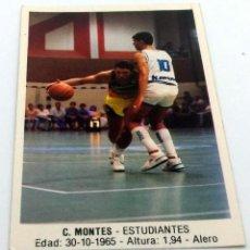 Coleccionismo deportivo: CROMO BALONCESTO CONVERSE C. MONTES- ESTUDIANTES Nº 58. Lote 246930620