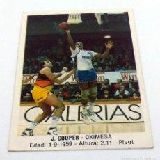 Coleccionismo deportivo: CROMO BALONCESTO CONVERSE J. COOPER- OXIMESA Nº 75. Lote 246981300