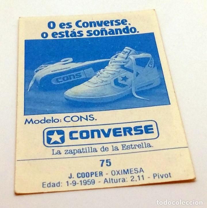 Coleccionismo deportivo: CROMO BALONCESTO CONVERSE J. COOPER- OXIMESA Nº 75 - Foto 2 - 246981300