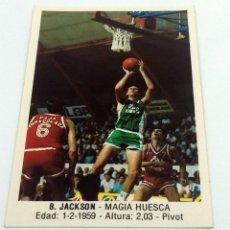 Coleccionismo deportivo: CROMO BALONCESTO CONVERSE B. JACKSON-MAGIA HUESCA- Nº 82. Lote 246983550