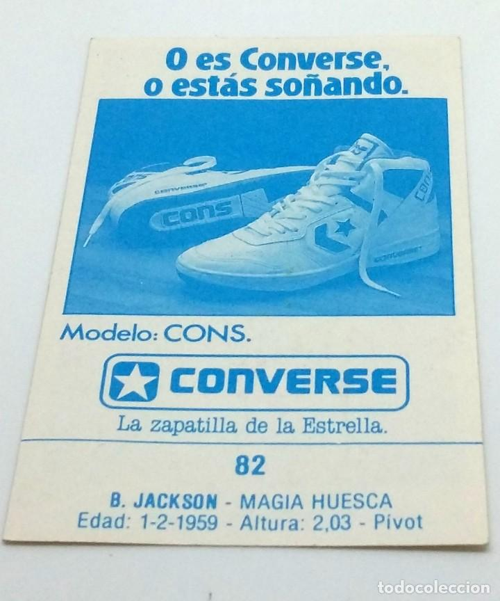 Coleccionismo deportivo: CROMO BALONCESTO CONVERSE B. JACKSON-MAGIA HUESCA- Nº 82 - Foto 2 - 246983550