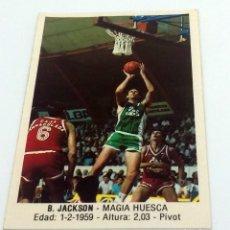 Coleccionismo deportivo: CROMO BALONCESTO CONVERSE B. JACKSON-MAGIA HUESCA- Nº 82. Lote 246983725