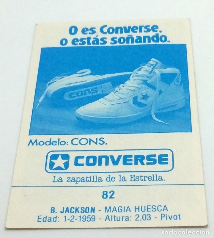 Coleccionismo deportivo: CROMO BALONCESTO CONVERSE B. JACKSON-MAGIA HUESCA- Nº 82 - Foto 2 - 246983725