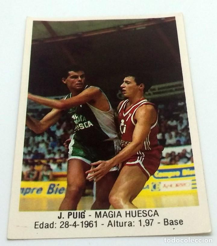 CROMO BALONCESTO CONVERSE J. PUIG-MAGIA HUESCA- Nº 79 (Coleccionismo Deportivo - Cromos otros Deportes)