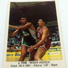Coleccionismo deportivo: CROMO BALONCESTO CONVERSE J. PUIG-MAGIA HUESCA- Nº 79. Lote 246984275