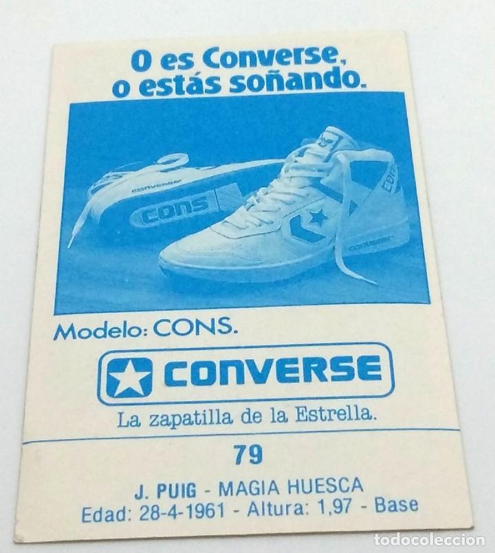 Coleccionismo deportivo: CROMO BALONCESTO CONVERSE J. PUIG-MAGIA HUESCA- Nº 79 - Foto 2 - 246984275
