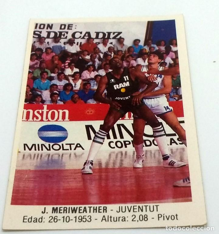 CROMO BALONCESTO CONVERSE J. MERIWEATHER-JUVENTUT- Nº 90 (Coleccionismo Deportivo - Cromos otros Deportes)