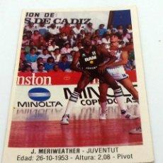 Coleccionismo deportivo: CROMO BALONCESTO CONVERSE J. MERIWEATHER-JUVENTUT- Nº 90. Lote 246985535
