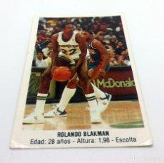 Coleccionismo deportivo: CROMO BALONCESTO CONVERSE - ROLANDO BLAKMAN-Nº169. Lote 247000325