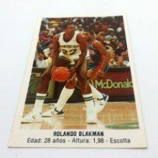 Coleccionismo deportivo: CROMO BALONCESTO CONVERSE - ROLANDO BLAKMAN-Nº169. Lote 247000380