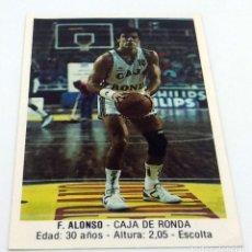 Coleccionismo deportivo: CROMO BALONCESTO CONVERSE F.ALONSO-CAJA DE RONDA Nº 49. Lote 246917195