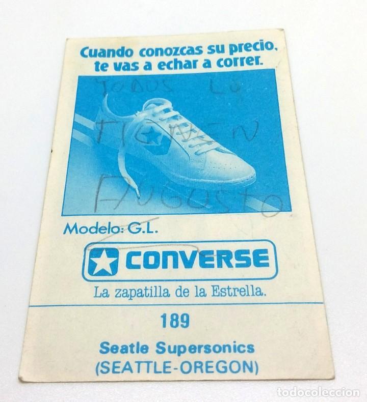 Coleccionismo deportivo: CROMO BALONCESTO CONVERSE - ESCUDO- SEATTLE SUPERSONICS Nº189 - Foto 2 - 247037820
