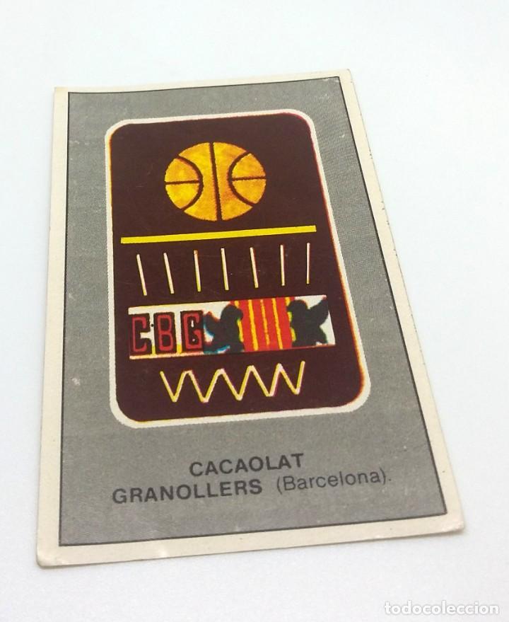 CROMO BALONCESTO CONVERSE - ESCUDO- CACAOLAT GRANOLLERS (BARCELONA) Nº205 (Coleccionismo Deportivo - Cromos otros Deportes)