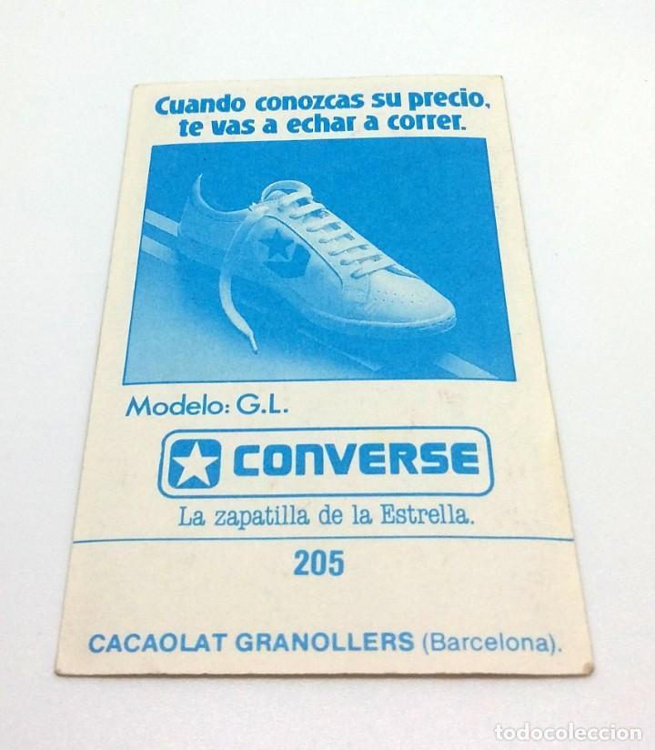 Coleccionismo deportivo: CROMO BALONCESTO CONVERSE - ESCUDO- CACAOLAT GRANOLLERS (BARCELONA) Nº205 - Foto 2 - 247040005