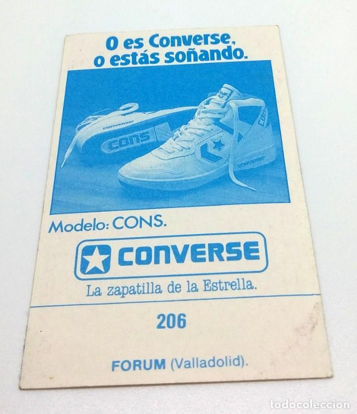 Coleccionismo deportivo: CROMO BALONCESTO CONVERSE - ESCUDO- FORUM (VALLADOLID) Nº206 - Foto 2 - 247040260