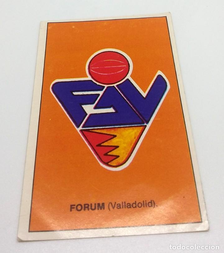 CROMO BALONCESTO CONVERSE - ESCUDO- FORUM (VALLADOLID) Nº206 (Coleccionismo Deportivo - Cromos otros Deportes)