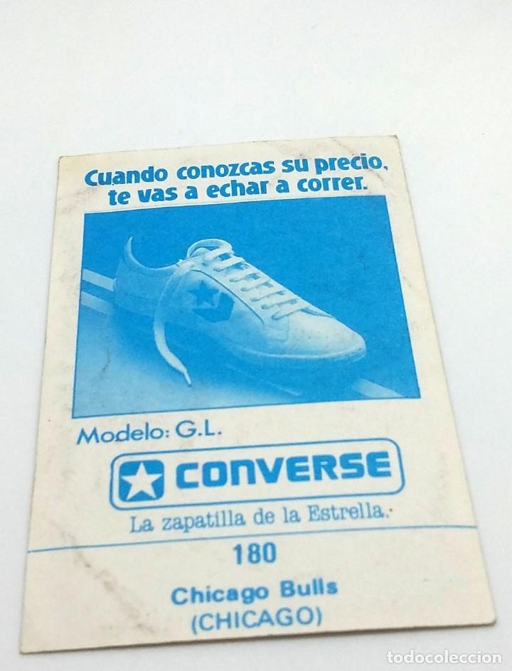 Coleccionismo deportivo: CROMO BALONCESTO CONVERSE - ESCUDO- CHICAGO BULLS (CHICAGO) Nº180 - Foto 2 - 247042310