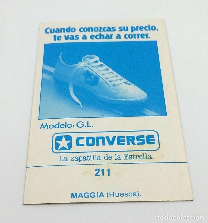 Coleccionismo deportivo: CROMO BALONCESTO CONVERSE - ESCUDO- MAGGIA (HUESCA) Nº 211 - Foto 2 - 247045975