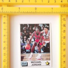 Coleccionismo deportivo: CROMO BALONCESTO SIN PEGAR 1990 NBA MICHAEL JORDAN 254 PANINI BASKET NBA 90 M. JEFFREY JORDAN 9/10. Lote 250217600