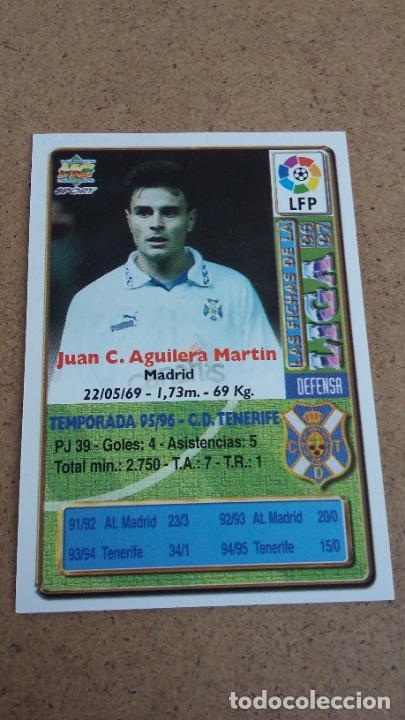 Coleccionismo deportivo: MUNDICROMO 96 97 1996 1997 - 81 AGUILERA ( BAJA ) - C.D. TENERIFE 498 - Foto 2 - 251036630