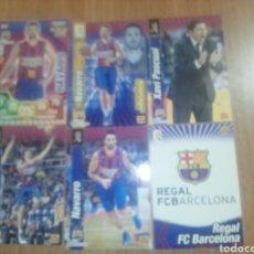 Coleccionismo deportivo: LIGA ACB 2010-2011 FC BARCELONA 14 CARDS RICKY RUBIO, NAVARRO,...VER DESCRIPCION. Lote 251214315