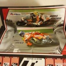 Coleccionismo deportivo: -ALBUM CROMOS CHICLES VIDAL MOTO GP 2006 - ROSSI , LORENZO ETC BUBBLE GUM MOTOS MOTOCICLISMO. Lote 252402230