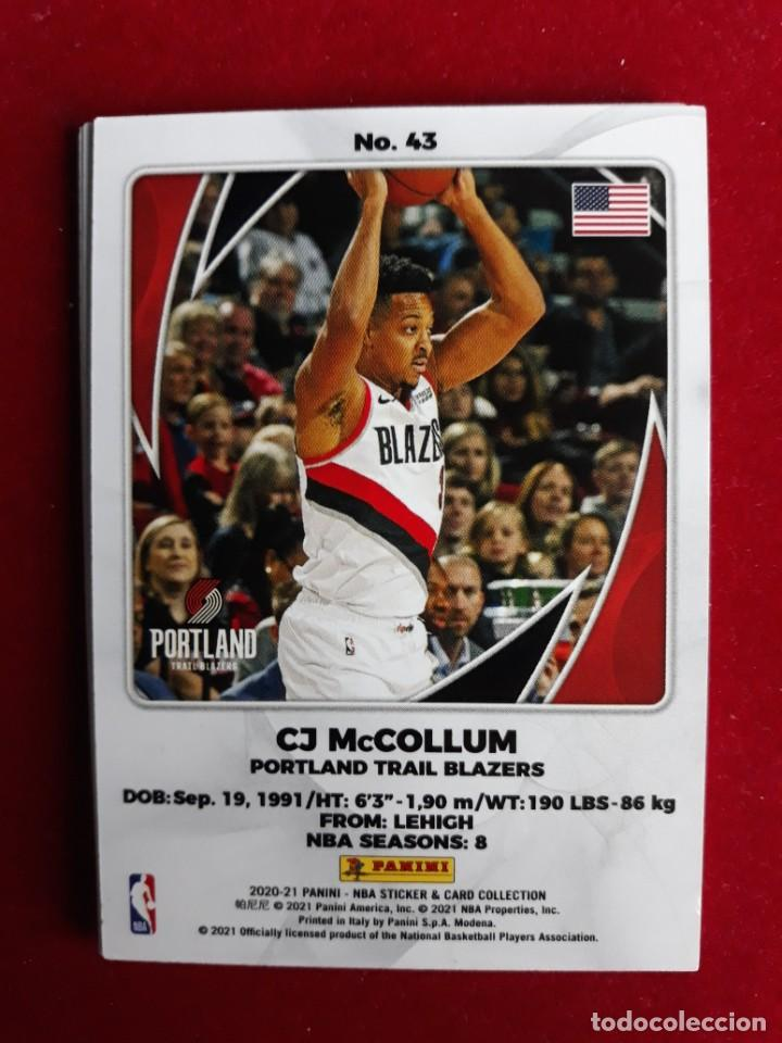 NBA 2020 - 2021 PANINI CARD Nº 43 MCCOLLUM (Coleccionismo Deportivo - Cromos otros Deportes)