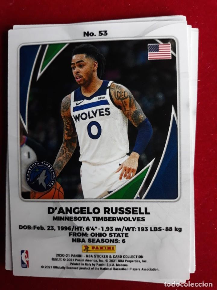 NBA 2020 - 2021 PANINI CARD Nº 53 RUSSELL (Coleccionismo Deportivo - Cromos otros Deportes)