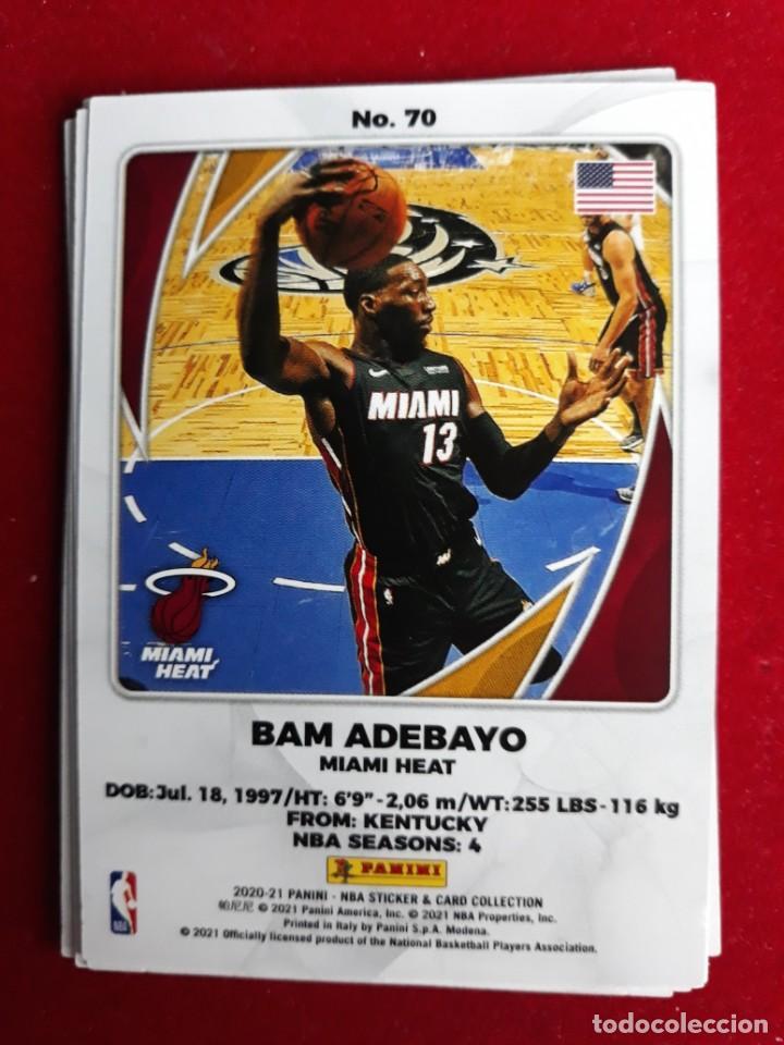 NBA 2020 - 2021 PANINI CARD Nº 70 ADEBAYO (Coleccionismo Deportivo - Cromos otros Deportes)