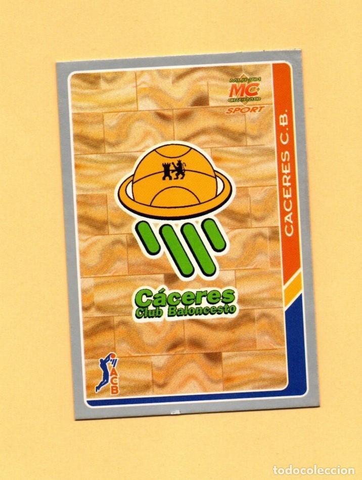 MUNDICROMO LAS FICHAS DE LA ACB 95 Nº 73 ESCUDO CACERES CLUB BALONCESTO 1994-1995 (Coleccionismo Deportivo - Cromos otros Deportes)