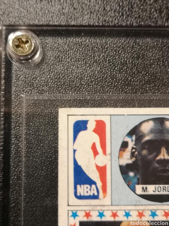 Coleccionismo deportivo: MICHAEL JORDAN CHICAGO BULLS ROOKIE CARD BALONCESTO 1986-1987 CONVERSE NBA MERCHANTE N. 163. - Foto 5 - 254992055