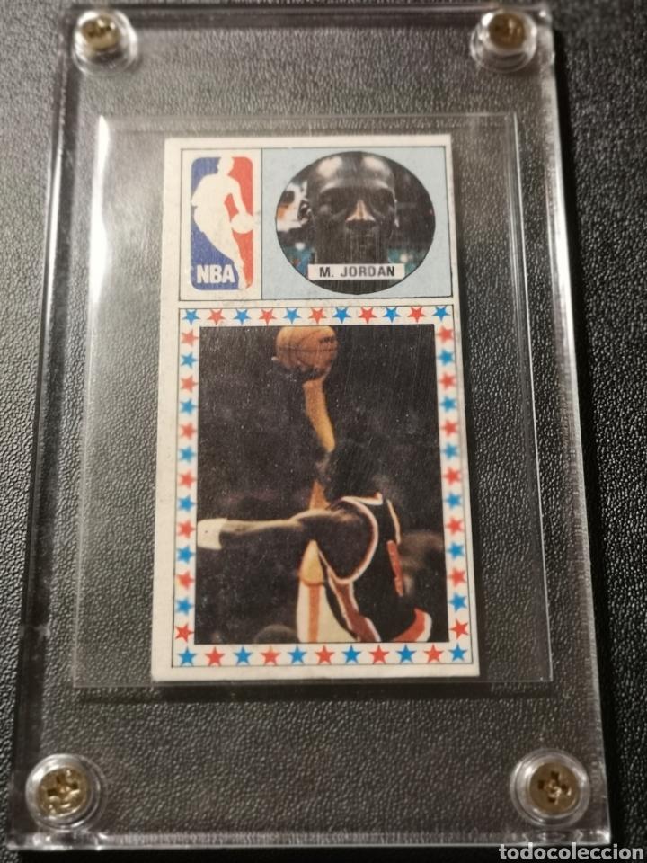 Coleccionismo deportivo: MICHAEL JORDAN CHICAGO BULLS ROOKIE CARD BALONCESTO 1986-1987 CONVERSE NBA MERCHANTE N. 163. - Foto 6 - 254992055