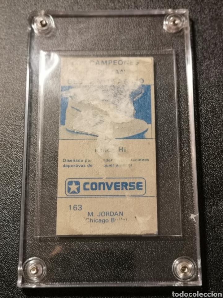 Coleccionismo deportivo: MICHAEL JORDAN CHICAGO BULLS ROOKIE CARD BALONCESTO 1986-1987 CONVERSE NBA MERCHANTE N. 163. - Foto 7 - 254992055