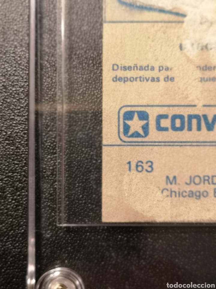 Coleccionismo deportivo: MICHAEL JORDAN CHICAGO BULLS ROOKIE CARD BALONCESTO 1986-1987 CONVERSE NBA MERCHANTE N. 163. - Foto 10 - 254992055