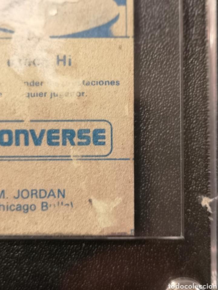 Coleccionismo deportivo: MICHAEL JORDAN CHICAGO BULLS ROOKIE CARD BALONCESTO 1986-1987 CONVERSE NBA MERCHANTE N. 163. - Foto 11 - 254992055