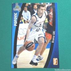 Coleccionismo deportivo: (51.7) CROMO PANINI - ACB 2008-2009 - (BRUESA GBC) - N°23 POPOVIC. Lote 255426815