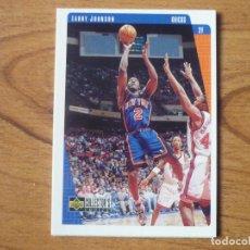 Coleccionismo deportivo: UPPER DECK COLLECTORS CHOICE 1997 NBA Nº 92 LARRY JOHNSON (NEW YORK KNICKS) - BASKETBALL CROMO 97. Lote 255428180