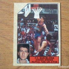 Coleccionismo deportivo: CROMO CONVERSE BALONCESTO 1988 89 Nº 4 ANDRES JIMENEZ (F C BARCELONA) - CROMO BASKET 1988 89 BARÇA. Lote 255441090