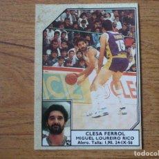Coleccionismo deportivo: CROMO CONVERSE BALONCESTO 1988 89 Nº 65 MIGUEL LOUREIRO (CLESA FERROL) - BASKET 1988 89. Lote 255441460