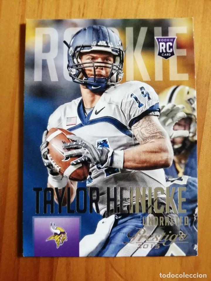 CROMO NÚMERO 288- NFL - NFLPA - RUGBY - AÑO 2015 PANINI - TAYLOR HEINICKE. (Coleccionismo Deportivo - Cromos otros Deportes)