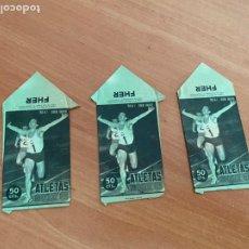 Coleccionismo deportivo: LOTE 3 SOBRES VACIOS CROMOS ALTELAS MEXICO 68 (CRIP5). Lote 261261720