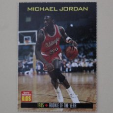 Coleccionismo deportivo: CROMO MICHAEL JORDAN. ROOKIE DEL AÑO CHICAGO BULLS. NBA. REVISTA SPORTS ILLUSTRATED (1985).. Lote 262591960