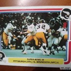 Coleccionismo deportivo: CROMO CARD NO.65 OF 70 - RUGBY - NFL FLEER 1980 - SUPER BOWL IX. Lote 263163095