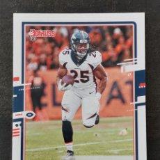 Coleccionismo deportivo: PANINI DONRUSS 2020 #89 MELVIN GORDON III DENVER BRONCOS NFL CARD. Lote 263163330