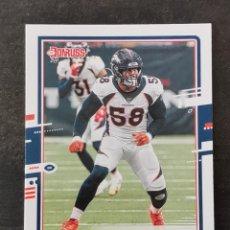 Coleccionismo deportivo: PANINI DONRUSS 2020 #90 VON MILLER DENVER BRONCOS NFL CARD. Lote 263163500